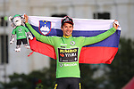 Red Jersey Primoz Roglic (SLO) Team Jumbo-Visma wins the overall general classification and also the points Green Jersey at the end of the final Stage 21 of La Vuelta 2019 running 106.6km from Fuenlabrada to Madrid, Spain. 15th September 2019.<br /> Picture: Luis Angel Gomez/Photogomezsport | Cyclefile<br /> <br /> All photos usage must carry mandatory copyright credit (© Cyclefile | Luis Angel Gomez/Photogomezsport)