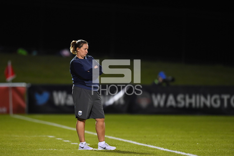Boyds, MD - Saturday September 30, 2017: Laura Harvey during a regular season National Women's Soccer League (NWSL) match between the Washington Spirit and the Seattle Reign FC at Maureen Hendricks Field, Maryland SoccerPlex.