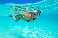 Snorkelers on the reef<br /> Hawksnest Bay<br /> Virgin Islands National Park<br /> St. John, U.S. Virgin Islands