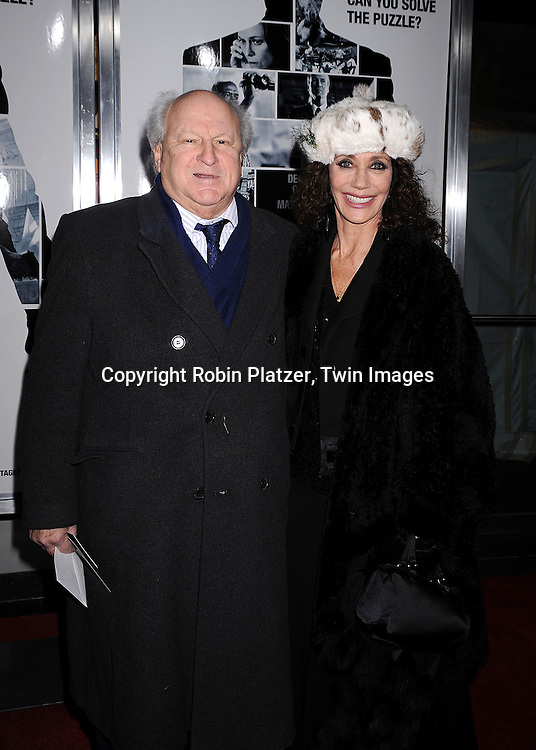 """Bobby Zarem and Marisa Berenson.arriving at The World Ptemiere of """"Vantage Point"""" .on February 20, 2008 at The AMC Lincoln Square Theatre in New York City. The movie stars Dennis Quaid, Matthew Fox, Forest Whitaker, Sigourney Weaver and Zoe Saldana. ..Robin Platzer, Twin Images..212-935-0770"""