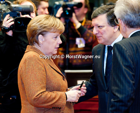 Brussels-Belgium - March 02, 2012 -- European Council, EU-summit during Danish Presidency; here, Angela MERKEL (le), Federal Chancellor of Germany, with José (Jose) Manuel BARROSO (ri), President of the European Commission -- Photo: © HorstWagner.eu