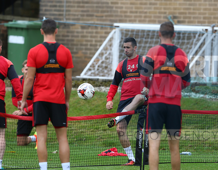 Daniel Lafferty of Sheffield Utd  during the Sheffield Utd training session at the Shirebrook training complex, Sheffield. Picture date: 2nd September 2016. Picture Simon Bellis/Sportimage