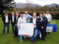 21-04-13: Launching the cartell.ie International Rally of the Lakes 2013 at The Brehon Hotel,  Killarney on Sunday were  from left, Liam Cronin, Deputy Clerk of  the course, Johnny McGuire, Killarney Chamber of Tourism and Commerce President , Patrick O'Donoghue, Gleneagle Hotel, Cathy Healy, Secretary,  Brian McArdle, OSI, Dermot Healy, Clerk of the Course, Jeff Aherne  cartell.ie,  Richie Lahiff, cartell.ie,   and  Diarmuid Cronin, Killarney and District Motor Club Chairman Picture: Eamonn Keogh (MacMonagle, Killarney)
