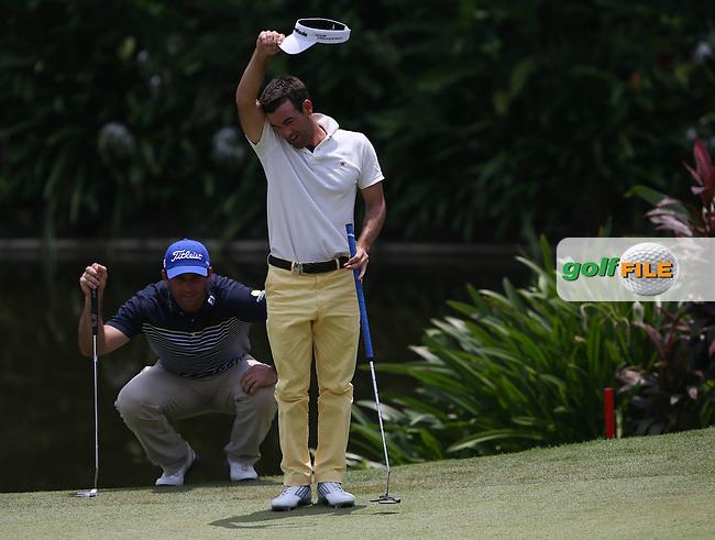 Both Ricardo Santos (POR) and Eduardo De La Riva (ESP) ended Round Three on -8 at the 2014 Maybank Malaysian Open at the Kuala Lumpur Golf & Country Club, Kuala Lumpur, Malaysia. Picture:  David Lloyd / www.golffile.ie
