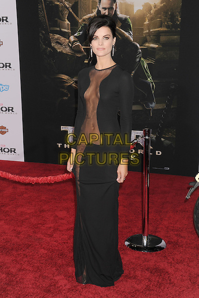 HOLLYWOOD, CA - NOVEMBER 04: Jaimie Alexander at the Los Angeles Premiere 'Thor: The Dark World' at the El Capitan Theatre on November 4, 2013 in Hollywood, California, USA.<br /> CAP/ROT/TM<br /> &copy;Tony Michaels/Roth Stock/Capital Pictures