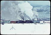 D&amp;RGW #483 and #487 K-36's with Rotary OM and gondola with rail fans.<br /> D&amp;RGW  Chama, NM