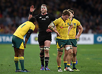 Kieran Read of the All Blacks during the Rugby Championship match between Australia and New Zealand at Optus Stadium in Perth, Australia on August 10, 2019 . Photo: Gary Day / Frozen In Motion
