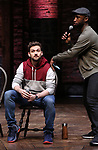 Neil Haskell and Donald Webber during the eduHAM Q & A with the cast of Broadway's 'Hamilton' at The Richard Rodgers Theatre on April 25, 2018 in New York City.