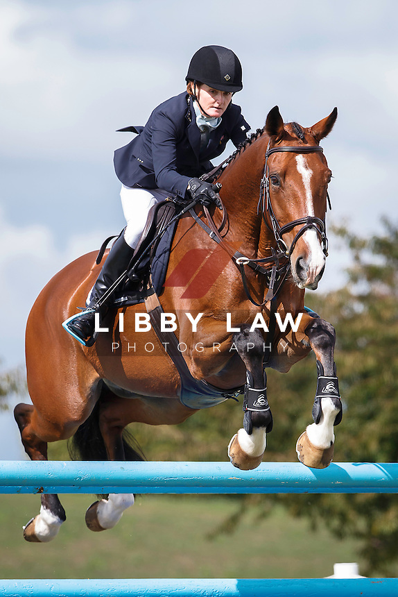 NZL-Megan Finlayson (GREENSLEEVES) FINAL-3RD: SHOW JUMPING: 2016 NZL-Kihikihi International Horse Trial (Sunday 10 April) CREDIT: Libby Law COPYRIGHT: LIBBY LAW PHOTOGRAPHY