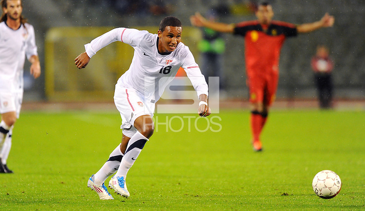 Juan Agudelo of team USA during the friendly match Belgium against USA at King Baudoin stadium in Brussel, Belgium on September 06th, 2011.