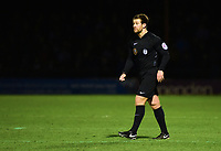 Referee Anthony Backhouse<br /> <br /> Photographer Andrew Vaughan/CameraSport<br /> <br /> The Buildbase FA Trophy Semi-Final First Leg - York City v Lincoln City - Tuesday 14th March 2017 - Bootham Crescent - York<br />  <br /> World Copyright &copy; 2017 CameraSport. All rights reserved. 43 Linden Ave. Countesthorpe. Leicester. England. LE8 5PG - Tel: +44 (0) 116 277 4147 - admin@camerasport.com - www.camerasport.com