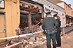 09/12/09 ATM Bank Robbery. Scene at Bank of Ireland Keady Co.Armagh where at approx 3.00am a digger was used to steal the ATM cash dispenser from the Bank.  MANDATORY CREDIT: LiamMcArdle.com .Picture Liam McArdle/newsfile.ie..