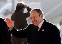 Algeria´s president Abdelaziz Bouteflika  arrives at a European Union and Africa summit 08 December 2007, in Lisbon.