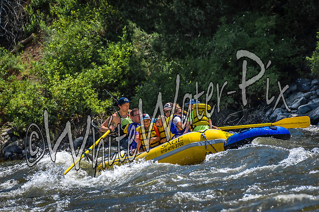 Sage Outdoor Adventures crashing Cable Rapid while floating the Upper Colorado River from Rancho Del Rio to State Bridge on the morning of July 2, 2015.