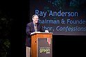 Keynote presentation by Ray Anderson, Chairman & Founder of Interface, Inc. and author of Confessions of a Radical Industrialist. West Coast Green is the nation's largest conference and expo dedicated to green innovation, building, design and technology. The conference featured over 300 exhibitors, 125 speakers, and 80 education and networking sessions. Fort Mason, San Francisco, California, USA. Photo taken October 2, 2009.