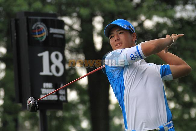 Ryo Ishikawa (JAP) on the 18th on day 2 of the World Golf Championship Bridgestone Invitational, from Firestone Country Club, Akron, Ohio. 5/8/11.Picture Fran Caffrey www.golffile.ie
