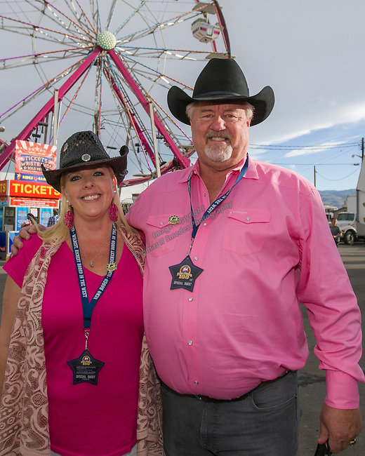 Tiffany and Rex during the Reno Rodeo Nevada Pink Night on Friday, June 28, 2019.