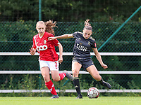 Standard's Gwyneth Vanaenrode (3) (L) and OHL's Jill Janssens (7) (R) in action during a female soccer game between Standard Femina de Liege and Oud Heverlee Leuven on the second matchday of the 2020 - 2021 season of Belgian Scooore Women s SuperLeague , saturday 5 th of September 2020  in Angleur , Belgium . PHOTO SPORTPIX.BE | SPP | SEVIL OKTEM