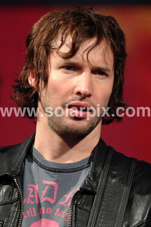 **ALL ROUND PICTURES FROM SOLARPIX.COM**.**WORLDWIDE SYNDICATION RIGHTS EXCLUDING UK & ITALY - NO PUBLICATION IN UK OR ITALY**.James Blunt live on an italian TV show in Milan, Italy. 19 February 2008..This pic: James Blunt..JOB REF: 9156 MXN       DATE: 19_02_2008.**MUST CREDIT SOLARPIX.COM OR DOUBLE FEE WILL BE CHARGED**.**ONLINE USAGE FEE GBP 50.00 PER PICTURE - NOTIFICATION OF USAGE TO PHOTO @ SOLARPIX.COM**.**CALL SOLARPIX : +34 952 811 768 or LOW RATE FROM UK 0844 617 7637**