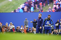 Justin Thomas (Team USA) on the 5th during the friday fourballs at the Ryder Cup, Le Golf National, Iles-de-France, France. 27/09/2018.<br /> Picture Fran Caffrey / Golffile.ie<br /> <br /> All photo usage must carry mandatory copyright credit (© Golffile | Fran Caffrey)