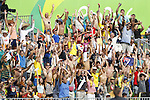 Fans, <br /> AUGUST 9, 2016 - / Rugby Sevens : <br /> Men's Pool Round <br /> between New Zeland 12-14 Japan <br /> at Deodoro Stadium <br /> during the Rio 2016 Olympic Games in Rio de Janeiro, Brazil. <br /> (Photo by Yusuke Nakanishi/AFLO SPORT)
