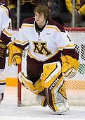 Jeff Frazee (University of Minnesota - Burnsville, MN) is announced as a starter. The University of Minnesota Golden Gophers defeated the Michigan State University Spartans 5-4 on Friday, November 24, 2006 at Mariucci Arena in Minneapolis, Minnesota, as part of the College Hockey Showcase.