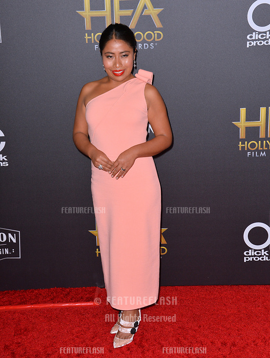 LOS ANGELES, CA. November 04, 2018: Yalitza Aparicio at the 22nd Annual Hollywood Film Awards at the Beverly Hilton Hotel.<br /> Picture: Paul Smith/Featureflash