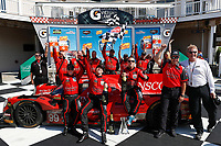 Winners #99 JDC/Miller Motorsports ORECA 07, P: Stephen Simpson, Mikhail Goikhberg, Chris Miller  and team in victory lane