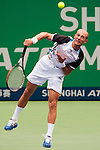 SHANGHAI, CHINA - OCTOBER 16:  Nikolay Davydenko of Russia serves against Radek Stepanek of the Czech Republic during day six of 2009 Shanghai ATP Masters 1000 at Qi Zhong Tennis Centre on October 16, 2009 in Shanghai, China. Photo by Victor Fraile / The Power of Sport Images