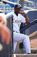 June 11th 2008:  Manager Aaron Holbert of the Lake County Captains, Class-A affiliate of the Cleveland Indians, during a game at Classic Park in Eastlake,OH.  Photo by:  Mike Janes/Four Seam Images