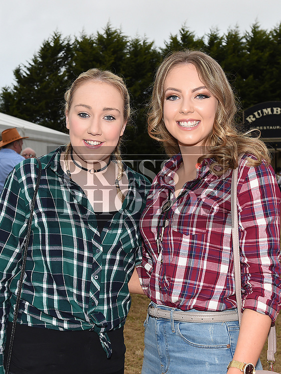 Aine Collins and Sarah Fay at the Big Country night in Cushinstown Athletic Club in aid of the Oncology Unit at Our Lady of Lourdes Hospital. Photo:Colin Bell/pressphotos.ie