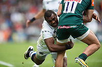 Semesa Rokoduguni of Bath Rugby tackles Jonny May of Leicester Tigers. Aviva Premiership match, between Leicester Tigers and Bath Rugby on September 3, 2017 at Welford Road in Leicester, England. Photo by: Patrick Khachfe / Onside Images