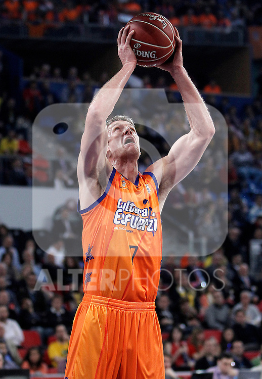 Valencia Basket Club's Justin Doellman during Spanish Basketball King's Cup semifinal match.February 07,2013. (ALTERPHOTOS/Acero)