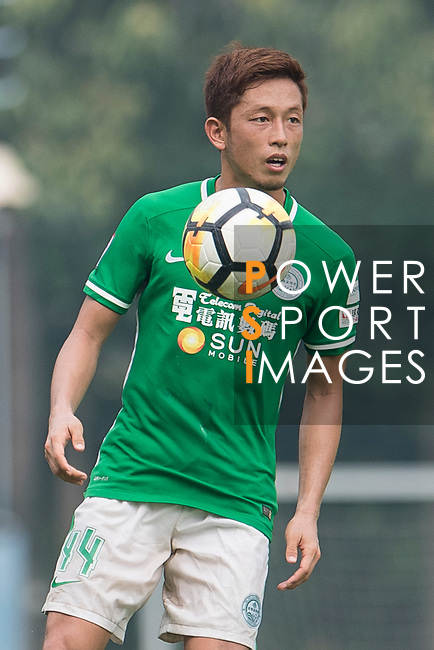 Yuto Nakamura of Wofoo Tai Po in action during the week three Premier League match between BC Rangers and Wofoo Tai Po at Sham Shui Po Sports Ground on September 17, 2017 in Hong Kong, China. Photo by Marcio Rodrigo Machado / Power Sport Images