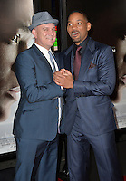Actors Will Smith (right) &amp; Mike O'Malley at the premiere of their movie &quot;Concussion&quot;, part of the AFI FEST 2015, at the TCL Chinese Theatre, Hollywood.<br /> November 10, 2015  Los Angeles, CA<br /> Picture: Paul Smith / Featureflash