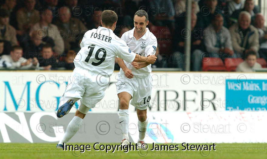 16/09/2006        Copyright Pic: James Stewart.File Name : sct_jspa15_falkirk_v_aberdeen.GARY DEMPSEY CELEBRATES AFTER HE SCORES ABERDEEN'S FIRST .....Payments to :.James Stewart Photo Agency 19 Carronlea Drive, Falkirk. FK2 8DN      Vat Reg No. 607 6932 25.Office     : +44 (0)1324 570906     .Mobile   : +44 (0)7721 416997.Fax         : +44 (0)1324 570906.E-mail  :  jim@jspa.co.uk.If you require further information then contact Jim Stewart on any of the numbers above.........