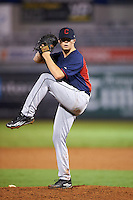 Pitcher Owen Griffith (23) of South Aiken High School in Aiken, South Carolina playing for the Cleveland Indians scout team during the East Coast Pro Showcase on July 28, 2015 at George M. Steinbrenner Field in Tampa, Florida.  (Mike Janes/Four Seam Images)