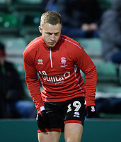 Lincoln City's Danny Rowe during the pre-match warm-up<br /> <br /> Photographer Chris Vaughan/CameraSport<br /> <br /> The EFL Sky Bet League Two - Lincoln City v Exeter City - Tuesday 26th February 2019 - Sincil Bank - Lincoln<br /> <br /> World Copyright © 2019 CameraSport. All rights reserved. 43 Linden Ave. Countesthorpe. Leicester. England. LE8 5PG - Tel: +44 (0) 116 277 4147 - admin@camerasport.com - www.camerasport.com