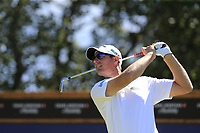 Nicolas Colsaerts (BEL) tees off the 8th tee during Saturday's Round 3 of the 2018 Omega European Masters, held at the Golf Club Crans-Sur-Sierre, Crans Montana, Switzerland. 8th September 2018.<br /> Picture: Eoin Clarke | Golffile<br /> <br /> <br /> All photos usage must carry mandatory copyright credit (&copy; Golffile | Eoin Clarke)