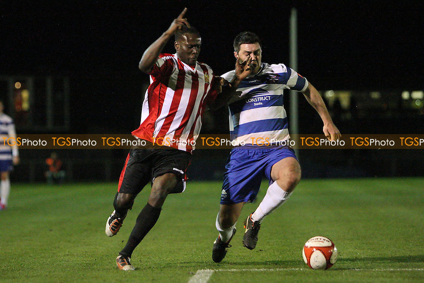 Fola Orilonishe in action for Hornchurch - AFC Hornchurch vs Margate - Ryman League Premier Division Football at The Stadium, Upminster Bridge, Essex - 27/03/12 - MANDATORY CREDIT: Gavin Ellis/TGSPHOTO - Self billing applies where appropriate - 0845 094 6026 - contact@tgsphoto.co.uk - NO UNPAID USE.