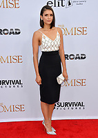Nina Dobrev at the premiere for &quot;The Promise&quot; at the TCL Chinese Theatre, Hollywood. Los Angeles, USA 12 April  2017<br /> Picture: Paul Smith/Featureflash/SilverHub 0208 004 5359 sales@silverhubmedia.com