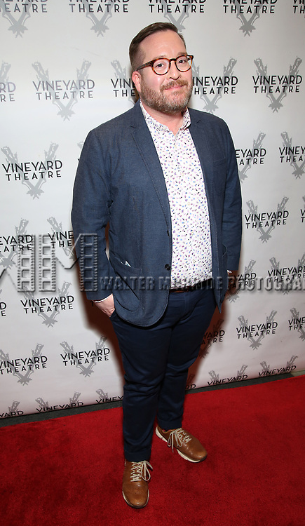 """Michael Cyril Creighton attending the Opening Night Performance for The Vineyard Theatre production of  """"Do You Feel Anger?"""" at the Vineyard Theatre on April 2, 2019 in New York City."""