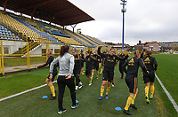 20191107 - Zapresic , BELGIUM : illustration picture shows the players with Chloe Van De Velde during a Matchday -1 training session before a  female soccer game between the womensoccer teams of  Croatia and the Belgian Red Flames , the third women football game for Belgium in the qualification for the European Championship round in group H for England 2021, Thursday 7 th october 2019 at the NK Inter Zapresic stadium near Zagreb , Croatia .  PHOTO SPORTPIX.BE | DAVID CATRY