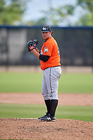 Miami Marlins pitcher Bryce Howe (50) during a Minor League Spring Training game against the Washington Nationals on March 28, 2018 at FITTEAM Ballpark of the Palm Beaches in West Palm Beach, Florida.  (Mike Janes/Four Seam Images)