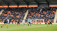 General view of play as the Wycombe support look on during the Sky Bet League 2 match between Barnet and Wycombe Wanderers at The Hive, London, England on 17 April 2017. Photo by Andy Rowland.
