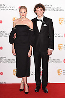 Gabriella Wilde and Josh Whitehouse<br /> in the winners room for the BAFTA TV Awards 2018 at the Royal Festival Hall, London<br /> <br /> ©Ash Knotek  D3401  13/05/2018