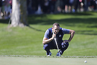 Sergio Garcia (Team Europe) on the 1st green during the Friday afternoon Fourball at the Ryder Cup, Hazeltine national Golf Club, Chaska, Minnesota, USA.  30/09/2016<br /> Picture: Golffile | Fran Caffrey<br /> <br /> <br /> All photo usage must carry mandatory copyright credit (&copy; Golffile | Fran Caffrey)