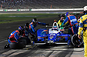 Verizon IndyCar Series<br /> Rainguard Water Sealers 600<br /> Texas Motor Speedway, Ft. Worth, TX USA<br /> Saturday 10 June 2017<br /> Takuma Sato, Andretti Autosport Honda pit stop<br /> World Copyright: Scott R LePage<br /> LAT Images<br /> ref: Digital Image lepage-170610-TMS-6509