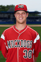 Batavia Muckdogs pitcher Jeffrey Kinley (30) poses for a photo on July 8, 2015 at Dwyer Stadium in Batavia, New York.  (Mike Janes/Four Seam Images)