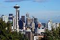 View of Seattle, Washington and the Space Needle on May 20th, 2019.